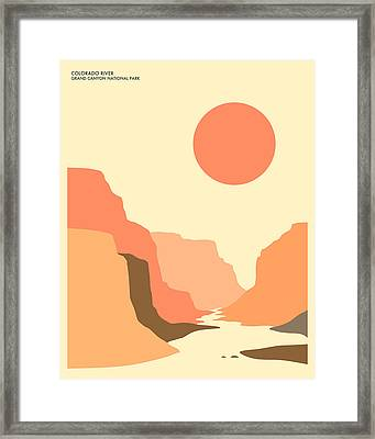 Grand Canyon National Park Framed Print by Jazzberry Blue