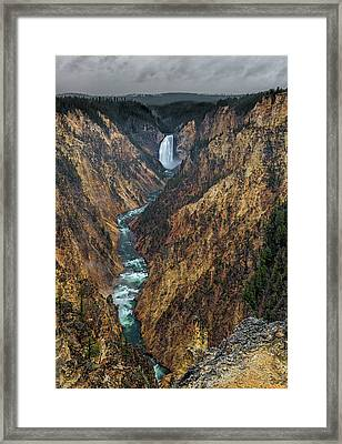Grand Canyon Of The Yellowstone Framed Print by Loree Johnson