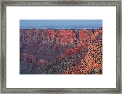 Grand Canyon South Rim At Sunset Framed Print by Dean Pennala
