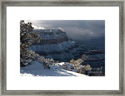 Grand Canyon Storm Framed Print by Sandra Bronstein