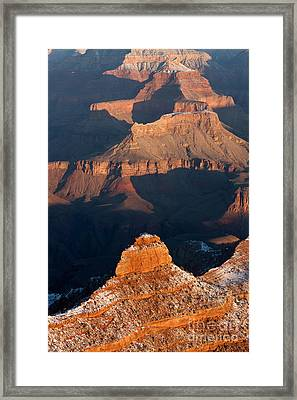 Grand Canyon Yaki Point Framed Print by Clarence Holmes