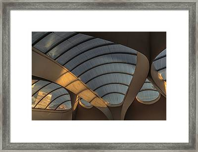 Grand Central Roof Space Framed Print by Chris Fletcher