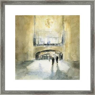 Grand Central Terminal Light Framed Print by Beverly Brown Prints