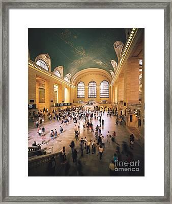 Grand Central Terminal Framed Print by Rafael Macia