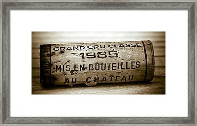 Grand Cru Classe 1985 Framed Print by Frank Tschakert