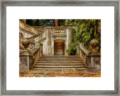 Grand Garden Staircase At Winterthur Framed Print by Lois Bryan