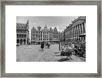 Grand Place Brussels Framed Print by Georgia Fowler
