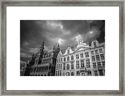 Grand Place Mono 1 Framed Print by Chris Fletcher
