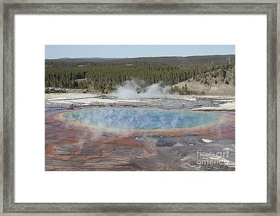 Grand Prismatic Spring, Midway Geyser Framed Print by Richard Roscoe