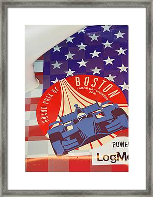 Grand Prix Of Boston Framed Print by Mike Martin