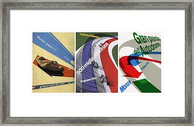 Grand Prix Trio - Le Mans - Monza Framed Print by Georgia Fowler