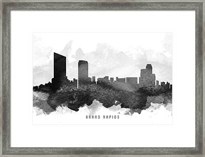 Grand Rapids Cityscape 11 Framed Print by Aged Pixel
