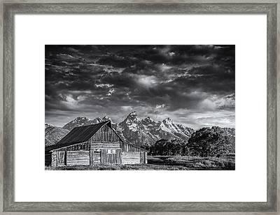 Grand Teton Barn Framed Print by Andrew Soundarajan