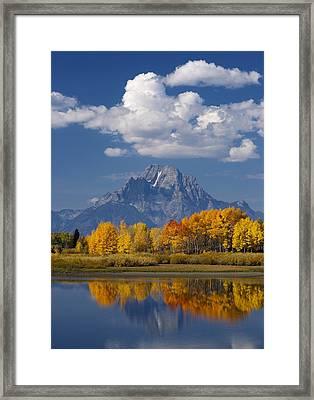 Grand Teton Xii Framed Print by John Blumenkamp
