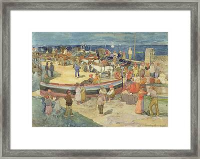 Grande Marina  Capri Framed Print by Maurice Brazil Prendergast