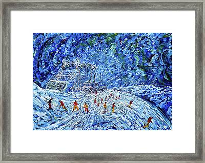 Grande Motte Cable Car Summit Tignes Val D'isere Framed Print by Pete Caswell