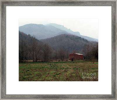 Grandfather Mountain Framed Print by Richard Rizzo