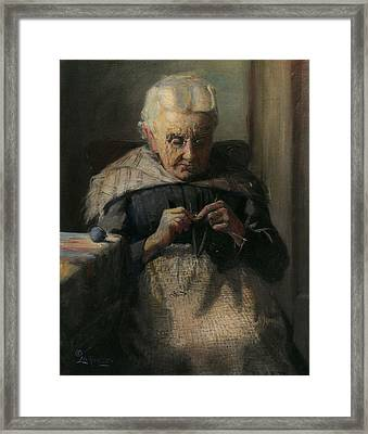Grandma Framed Print by Lewis A Ramsey