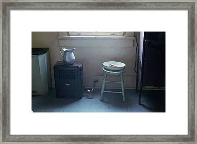 Grandma's Bathroom Framed Print by KG Thienemann