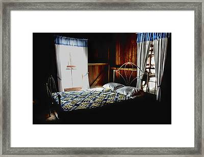 Grandma's Bed Room Framed Print by Laura Ragland