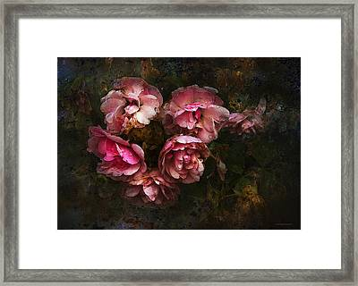Grandmother's Roses Framed Print by Ron Jones