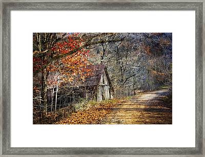Grandpa's Old Barn Framed Print by Debra and Dave Vanderlaan