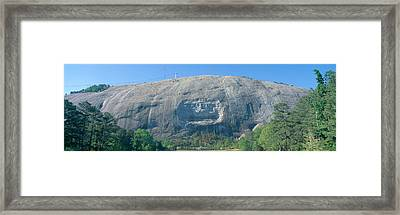 Granite Carving Of Confederate Framed Print by Panoramic Images