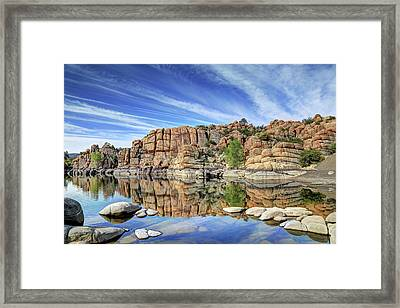Granite Dells At Watson Lake Framed Print by Donna Kennedy