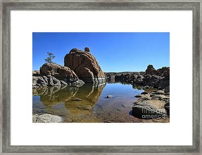 Granite Dells II Framed Print by Teresa Zieba