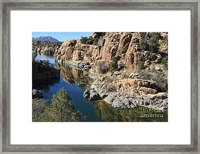 Granite Dells Framed Print by Teresa Zieba