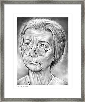 Granny Framed Print by Greg Joens