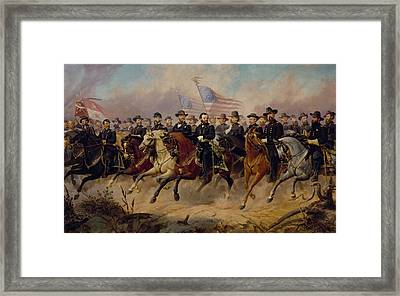 Grant And His Generals Framed Print by War Is Hell Store