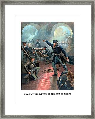 Grant At The Capture Of The City Of Mexico Framed Print by War Is Hell Store
