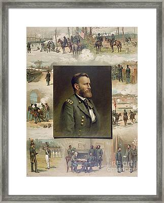 Grant From West Point To Appomattox Framed Print by Thure de Thulstrup