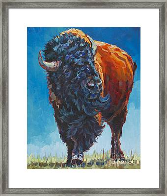Buffalo Framed Print featuring the painting Grant by Patricia A Griffin