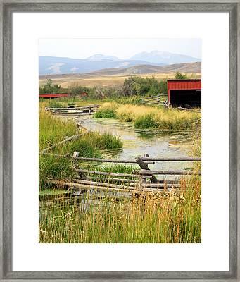 Grants Khors Ranch Vertical Framed Print by Marty Koch