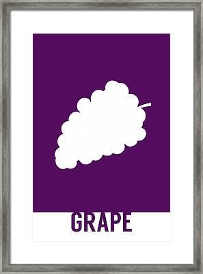Grape Food Art Minimalist Fruit Poster Series 004 Framed Print by Design Turnpike