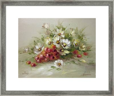 Grapes And Daisies Framed Print by David Jansen