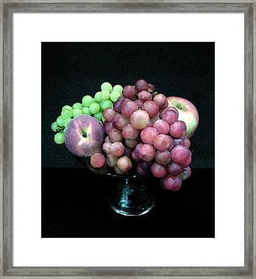 Grapes And Fruit Framed Print by Sandi OReilly