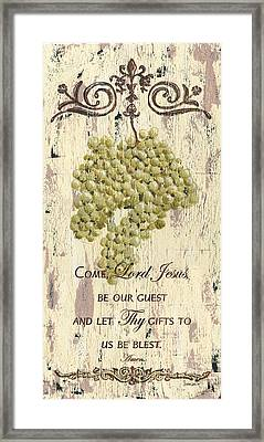 Grapes And Grace 1 Framed Print by Debbie DeWitt