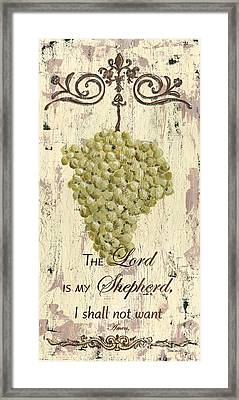 Grapes And Grace 2 Framed Print by Debbie DeWitt