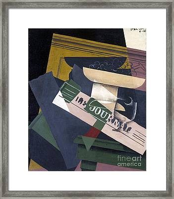 Grapes Framed Print by Juan Gris