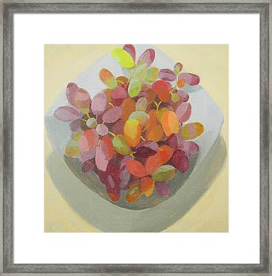 Grapes Framed Print by Mary Mabbutt