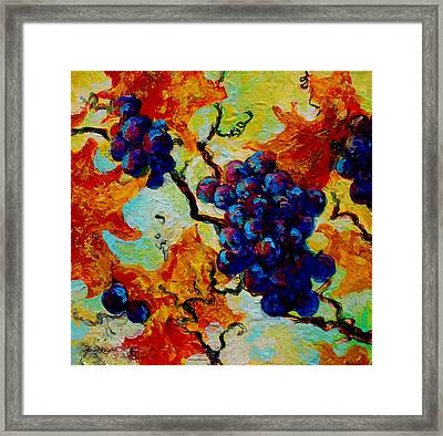 Grapes Mini Framed Print by Marion Rose