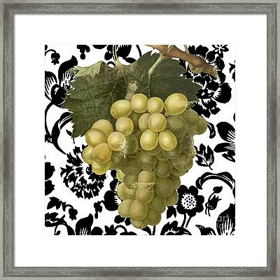 Grapes Suzette II Framed Print by Mindy Sommers