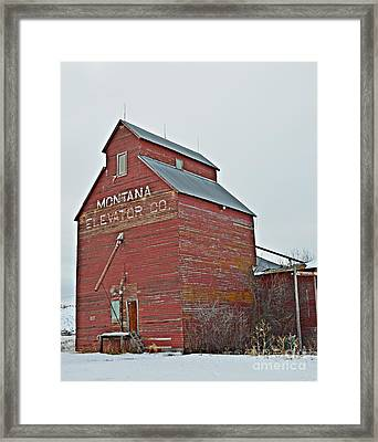 Grass Range Granary Framed Print by Chalet Roome-Rigdon
