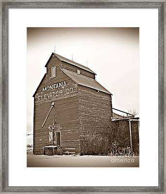 Grass Range Granary Sepia Framed Print by Chalet Roome-Rigdon