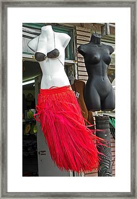 Grass Skirts For Sale Framed Print by Elizabeth Hoskinson