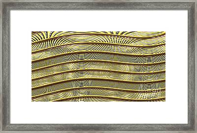 Grate Of Yellow Framed Print by Ron Bissett