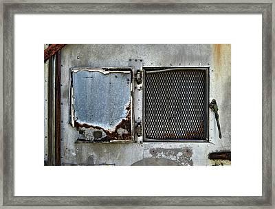 Grated Door Framed Print by Murray Bloom